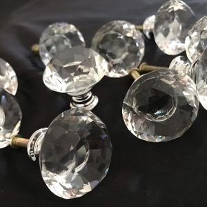 Anthropologie crystal furniture knobs NEW 10 pcs